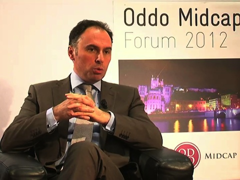 Interview d'Hugues Vaussy Directeur financier Eurofins au Forum Oddo Midcap 2012