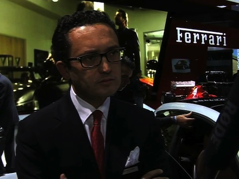 Interview de Francesco Balli Président Ferrari France au Mondial de l'Automobile 2012