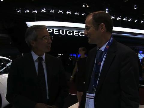 Interview de Frédéric Saint-Geours Directeur des marques PSA Peugeot Citroën au Mondial de l'Automobile 2012
