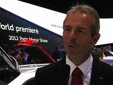 Interview de Benoit Tiers Directeur Général Audi France au Mondial de l'Automobile 2012