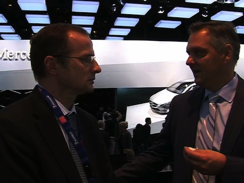Interview de Marc Langenbrinck Directeur Général Mercedes-Benz Cars France au Mondial de l'Automobile 2012
