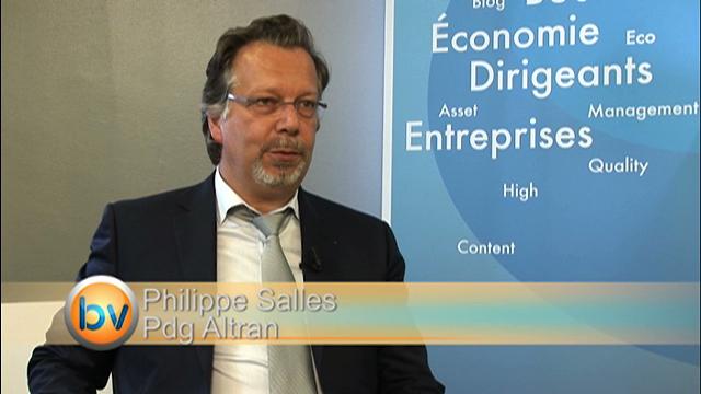 """Philippe Salle Pdg Altran :  """"Le marché est en phase de reprise"""""""