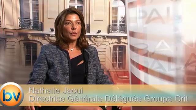 """Nathalie Jaoui Directrice Générale Déléguée Groupe Crit : """"Des opportunités à l'international y compris en Europe"""""""
