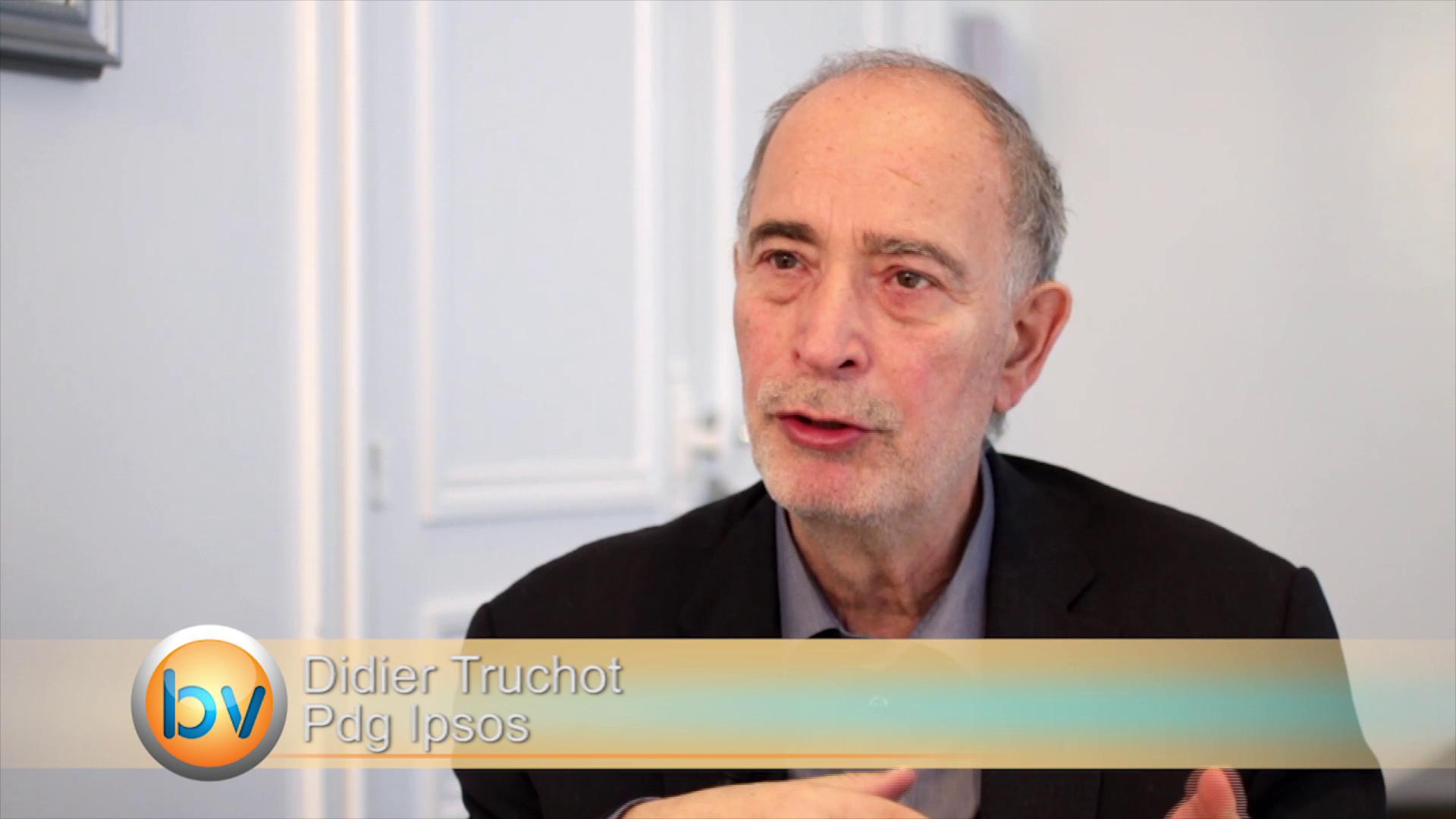 """Didier Truchot  Pdg Ipsos : """"On réenclenche un mouvement pour retrouver de la croissance et une meilleure rentabilité"""""""