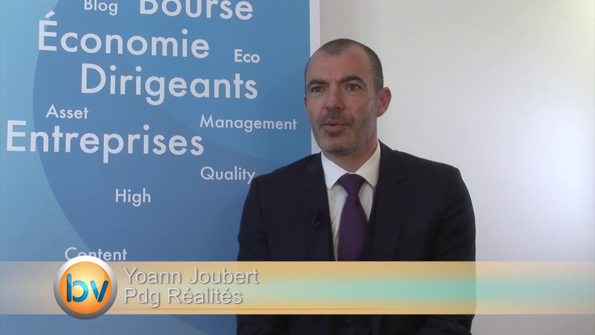 """Yoann Joubert Pdg Réalités : """"Trouver un modèle de croissance qui crée de la valeur pour nos actionnaires"""""""
