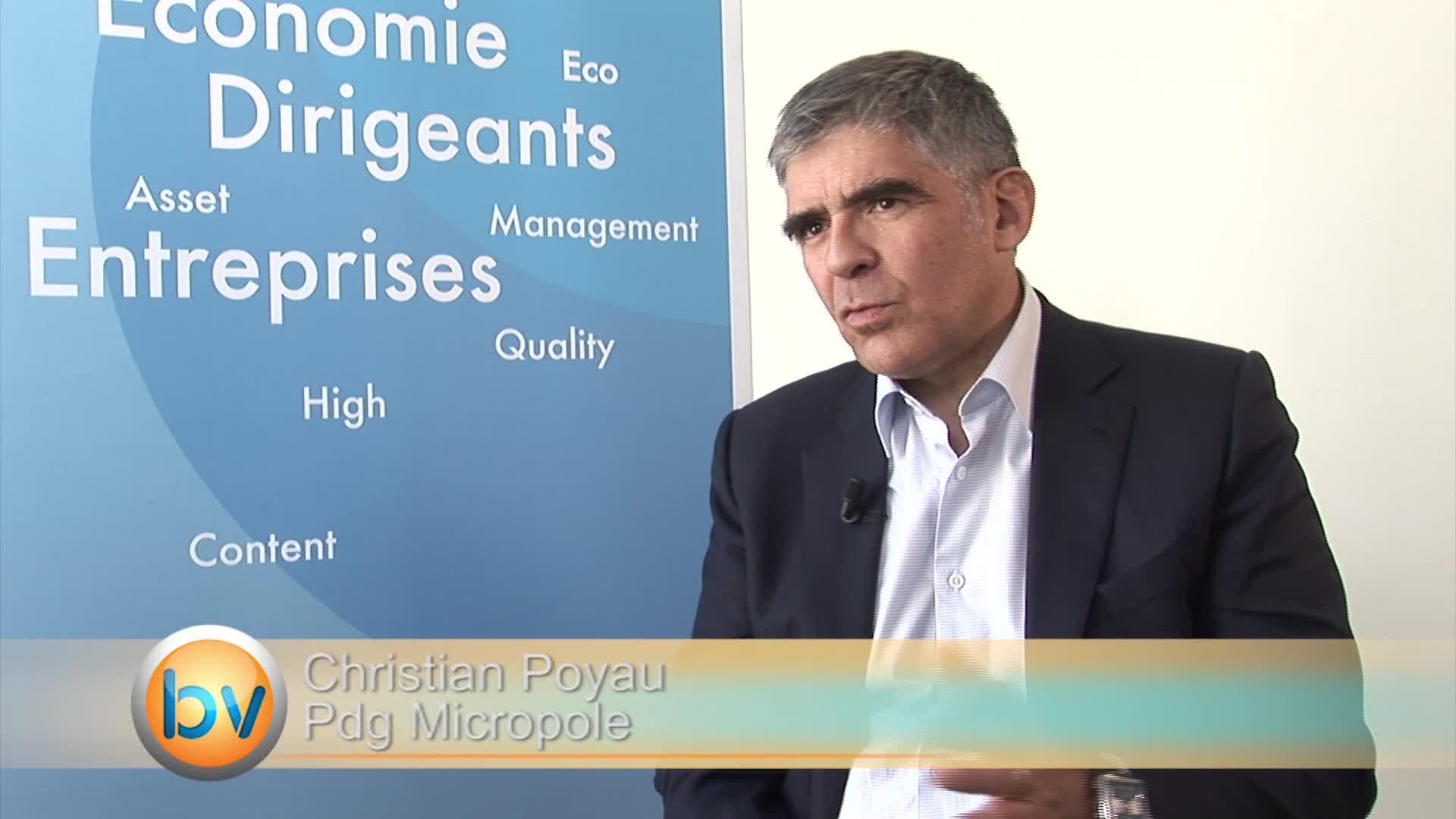 """Christian Poyau Pdg Micropole : """"L'action privilégiée est la montée en gamme"""""""