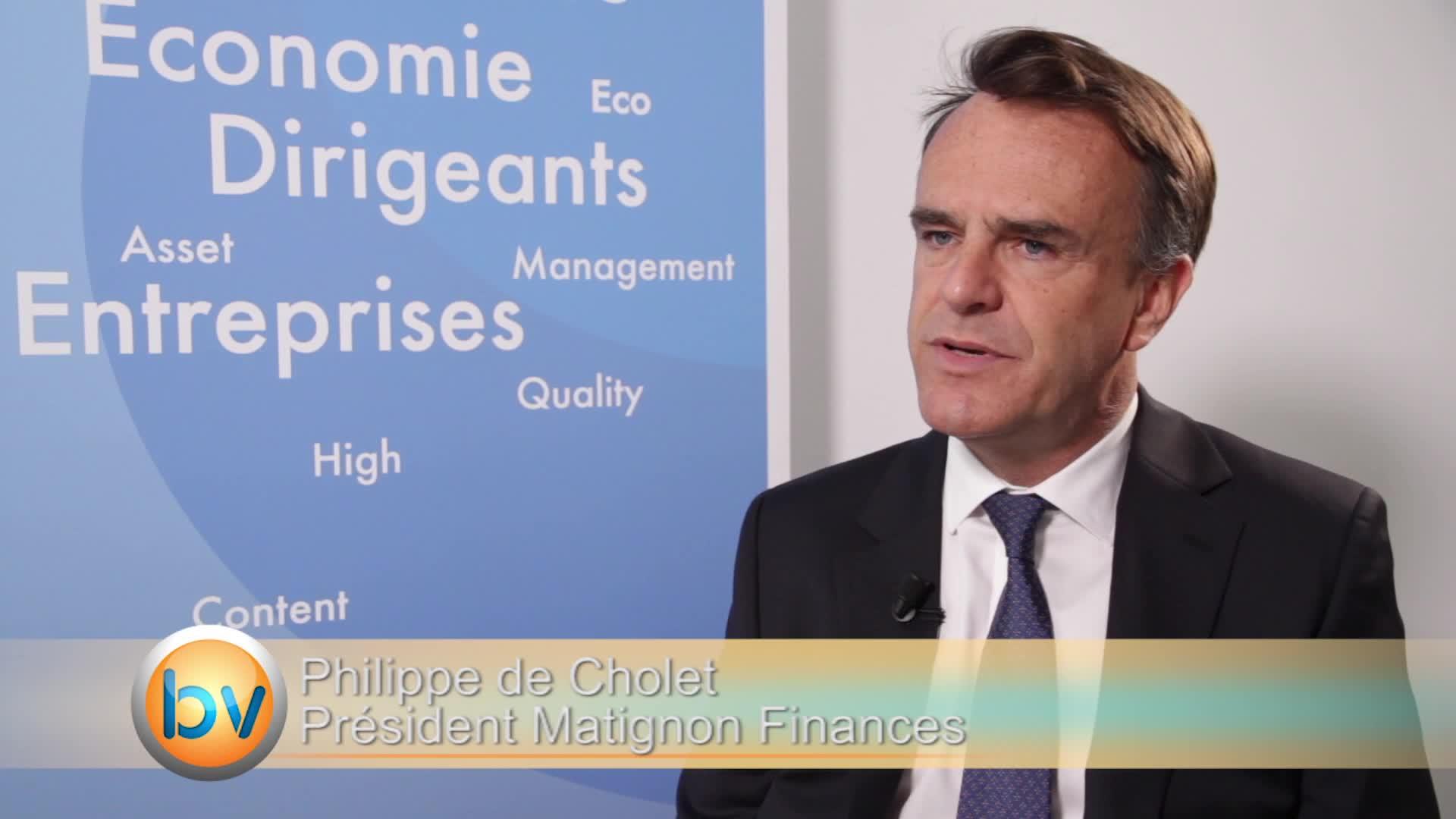"""Philippe de Cholet Président Matignon Finances : """"Il faut rester investi sur les actions"""""""