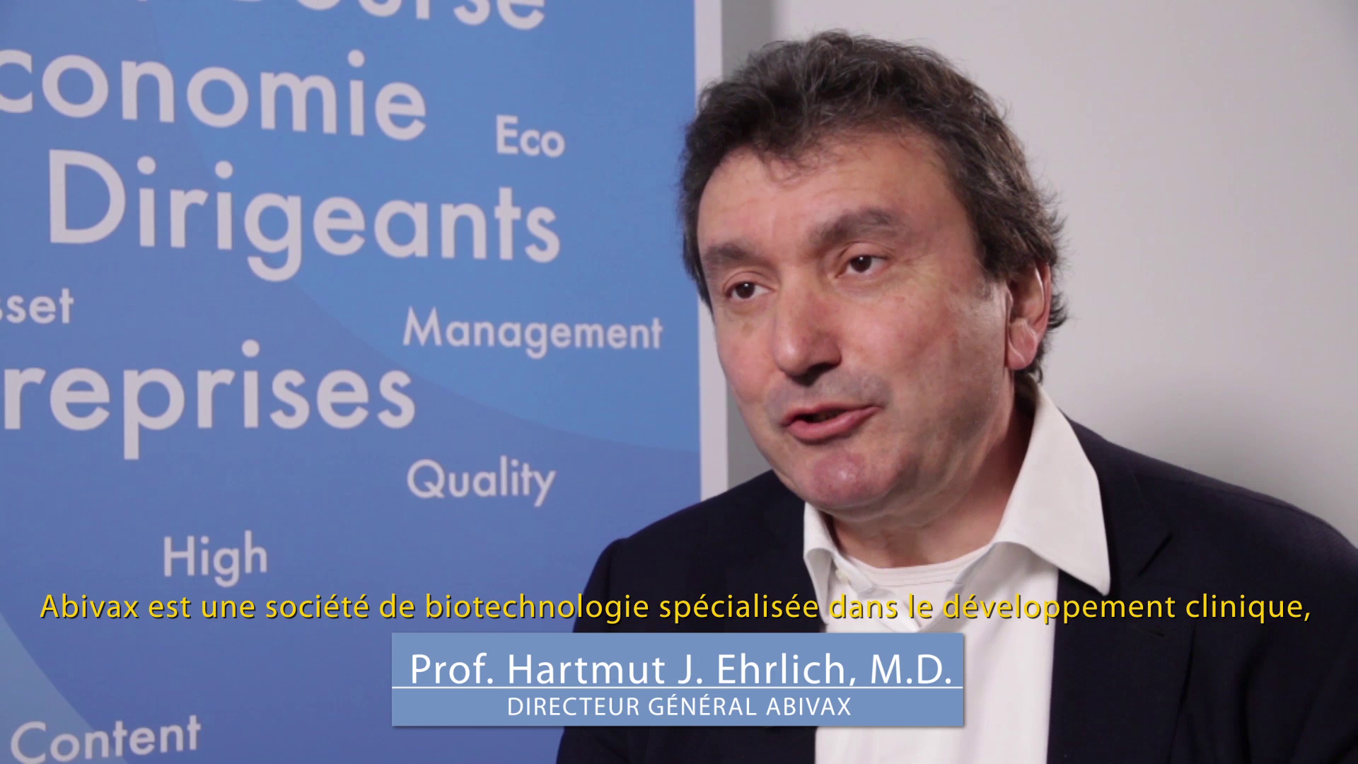 """Professeur Hartmut Ehrlich CEO ABIVAX : """"Nous allons démarrer la phase finale du développement clinique de notre vaccin thérapeutique contre l'hépatite B chronique"""""""