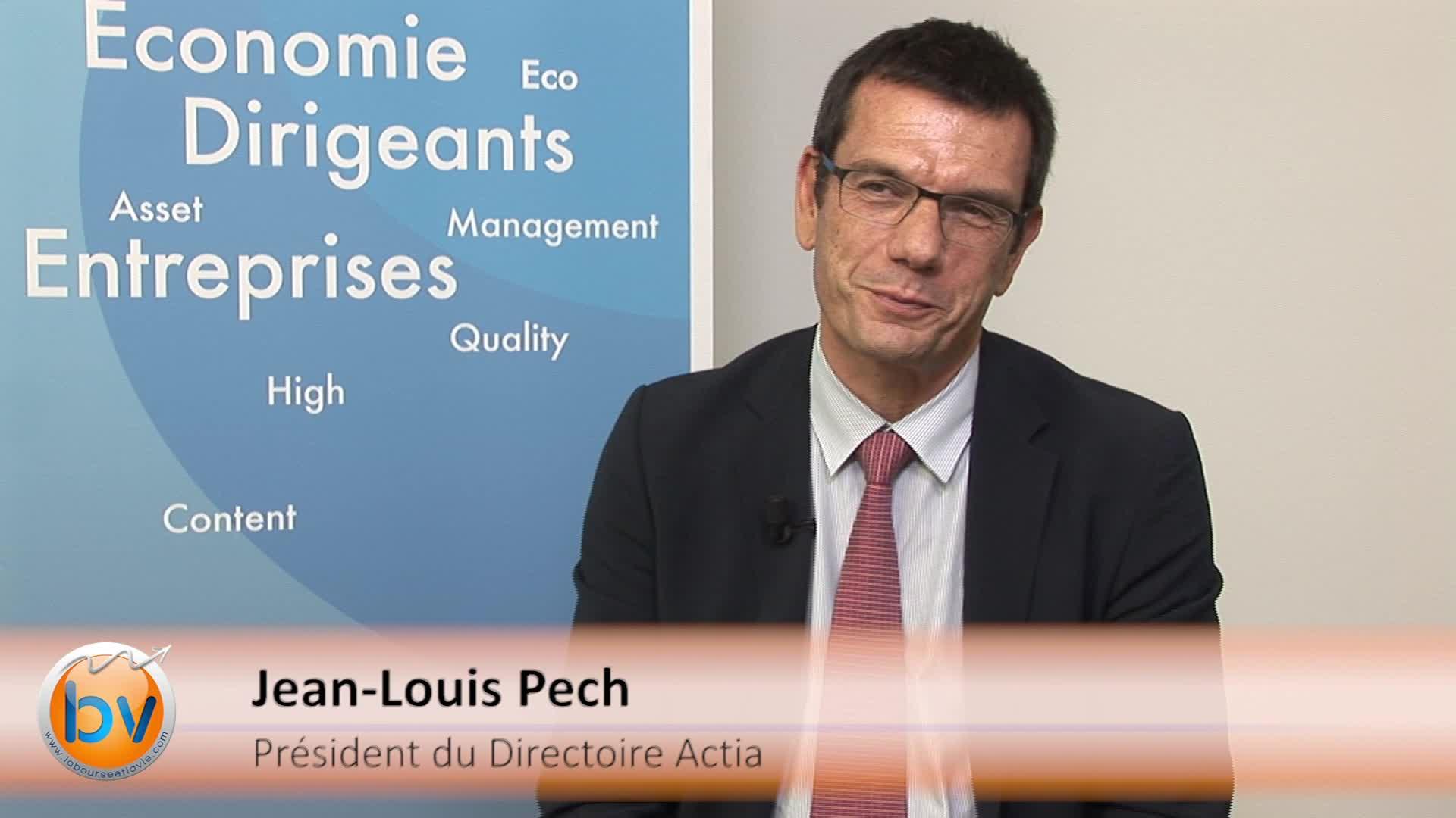 """Jean-Louis Pech Président du Directoire Actia : """"Notre volume d'activité restera soutenu"""""""