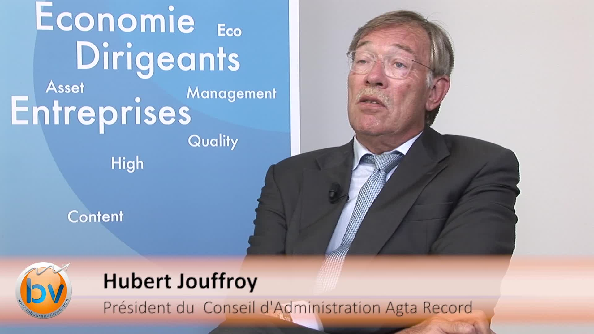 """Hubert Jouffroy Président du Conseil d'Administration Agta Record : """"Nous sommes optimistes pour l'année 2015"""""""