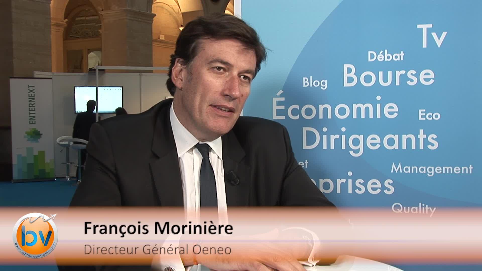 François Morinière Directeur Général Oeneo : «On est sur une tendance favorable»