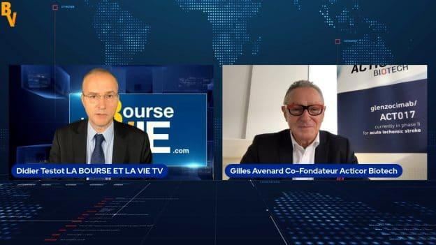 Gilles Avenard Directeur Général Acticor Biotech et co-fondateur, avec Didier Testot LA BOURSE ET LA VIE TV (Tous droits réservés 2021)
