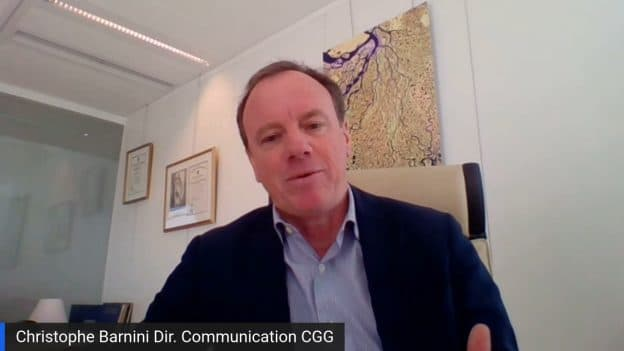 Christophe Barnini Directeur Communication CGG (Tous droits réservés 2021 www.labourseetlavie.com)