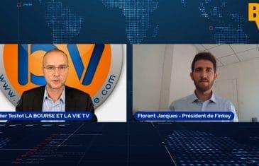 Florent Jacques CEO Finkey avec didier TESTOT Fondateur LA BOURSE ET LA VIE TV (Tous droits réservés 2021 www.labourseetlavie.com)