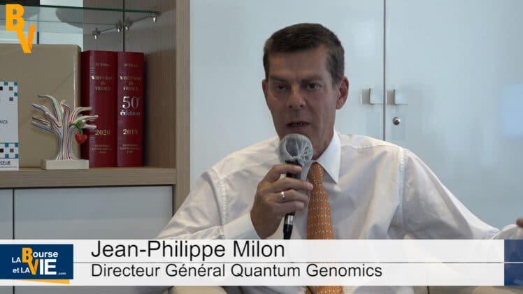"""Jean-Philippe Milon Directeur Général Quantum Genomics : """"Le partenariat en Chine donne encore plus de confiance à ceux qui souhaitent signer avec Quantum Genomics"""""""