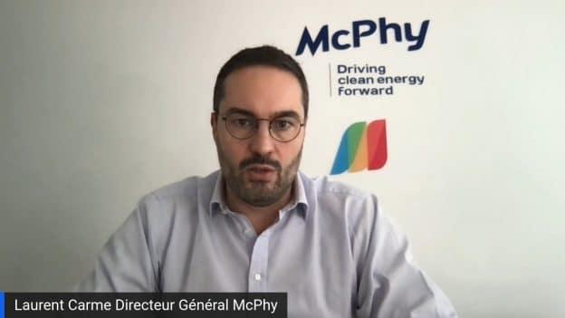 Laurent Carme Directeur Général McPhy (Tous droits réservés 2021 www.labourseetlavie.com)