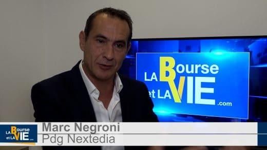 Marc Negroni Pdg Nextedia (Tous droits réservés 2021 www.labourseetlavie.com)