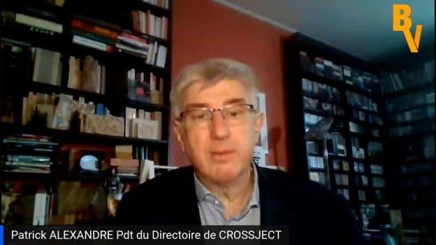 Patrick Alexandre Pdg Crossject (Tous droits réservés 2021 www.labourseetlavie.com)