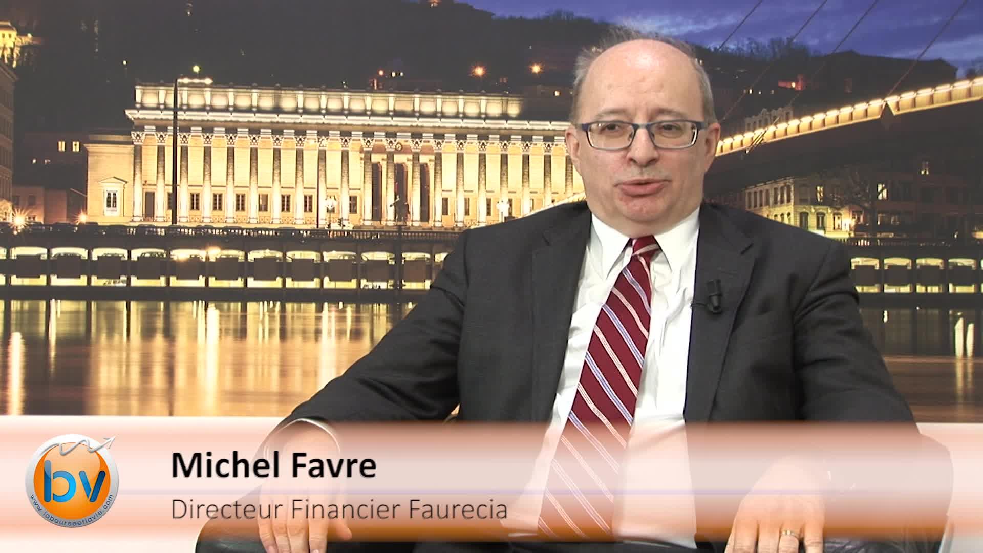 """Michel Favre Directeur Financier Faurecia : """"Nous allons pouvoir travailler sur des projets d'acquisition"""""""