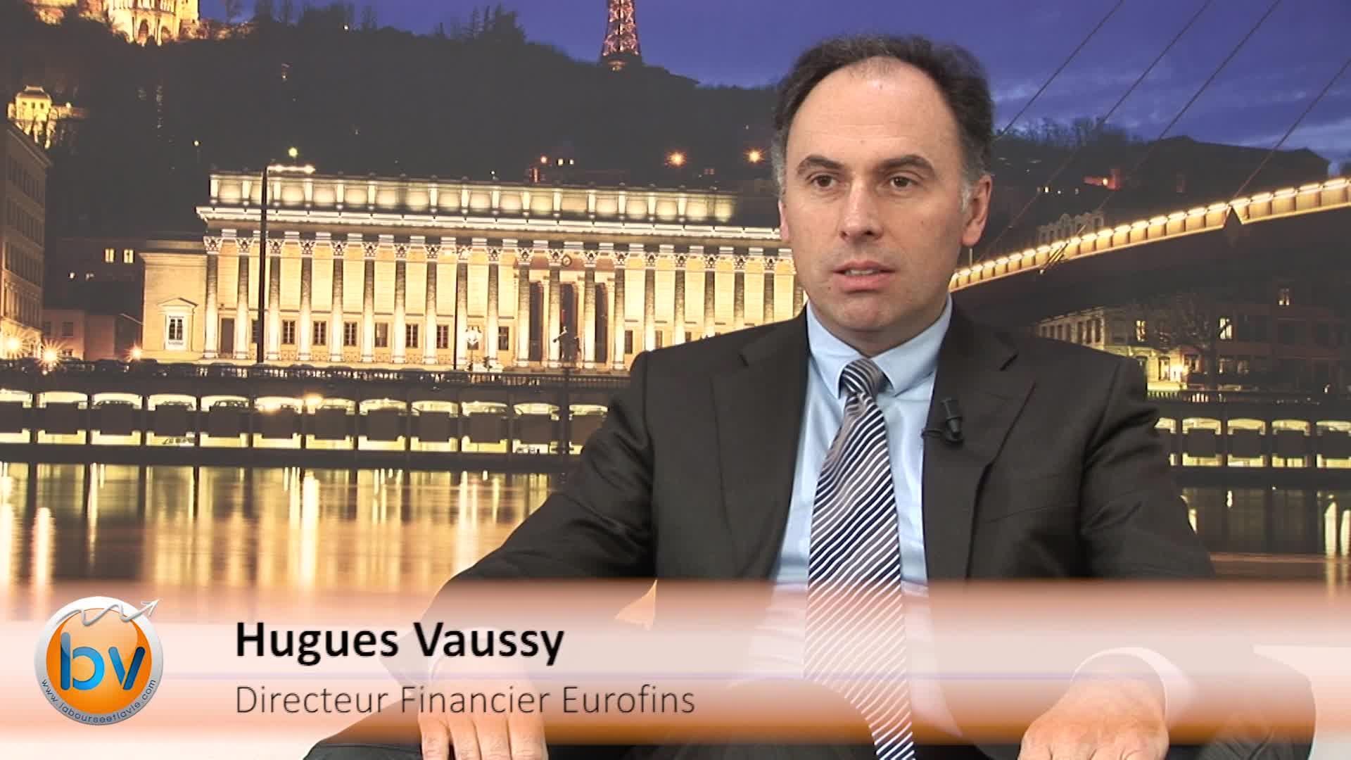 """Hugues Vaussy Directeur Financier Eurofins : """"Nous avons une position forte de liquidités pour nos futurs développements"""""""