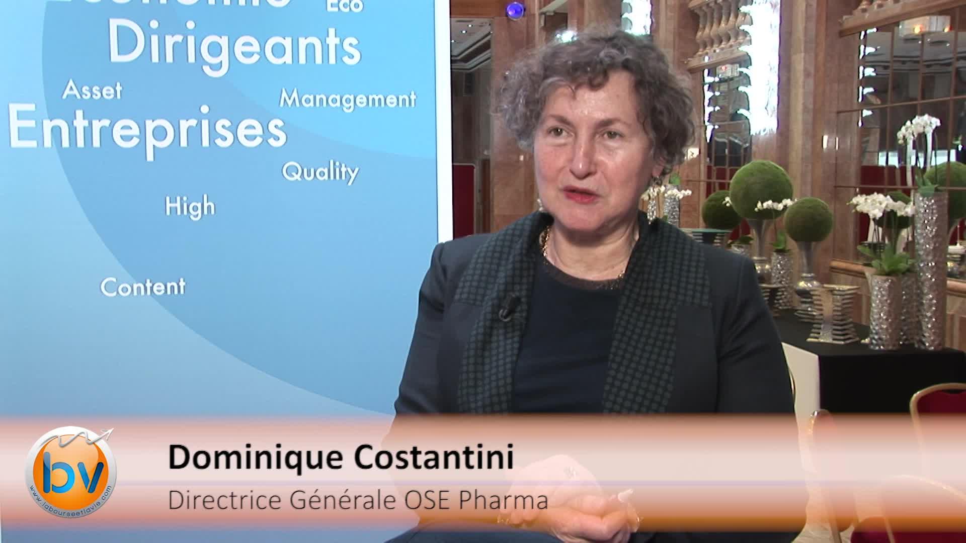 """Dominique Costantini Directrice Générale OSE Pharma : """"Notre travail va bientôt arriver à une plus grande maturité"""""""