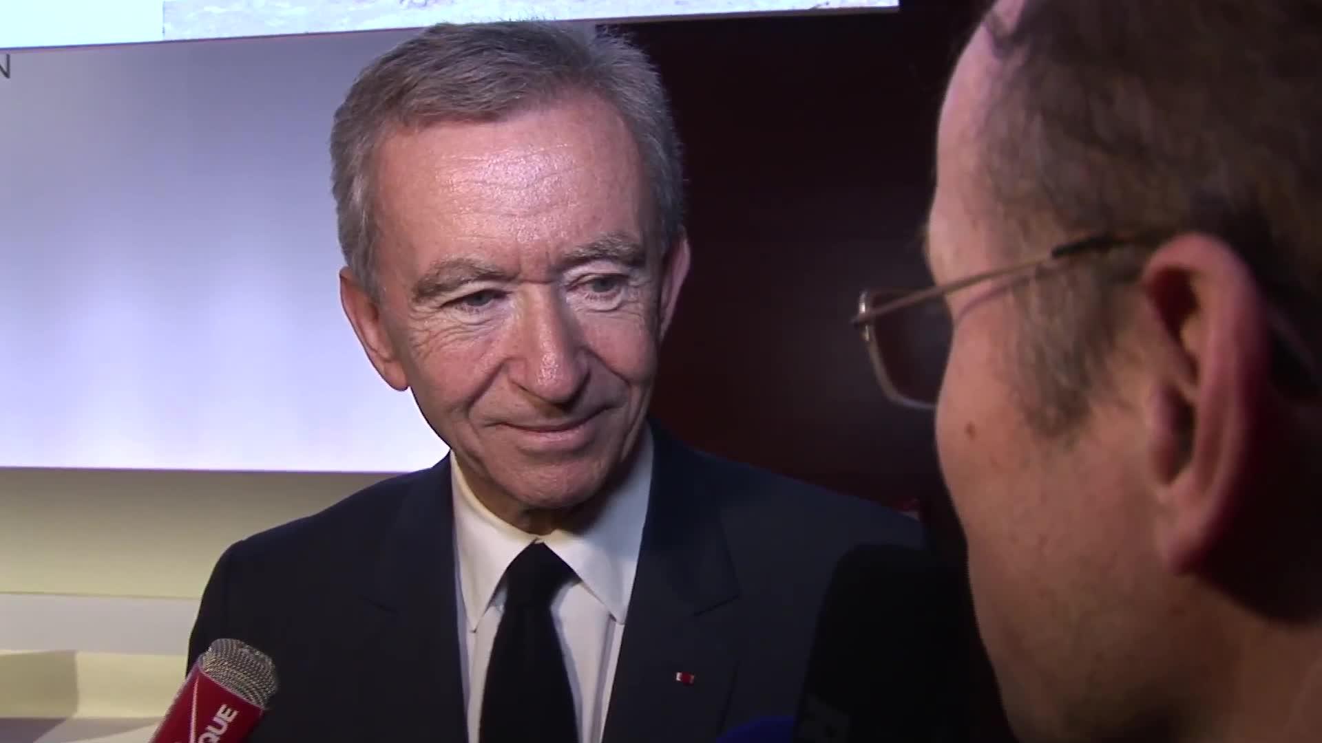 """Bernard Arnault Pdg de LVMH : """"Je suis confiant à moyen terme sur l'évolution de la Chine"""""""