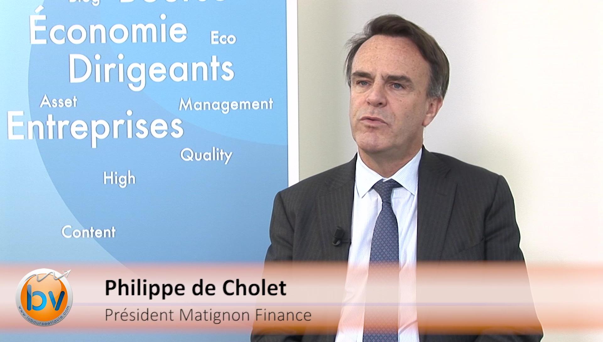 """Philippe de Cholet Président Matignon Finance : """"Une réserve de liquidités dans un portefeuille diversifié"""""""