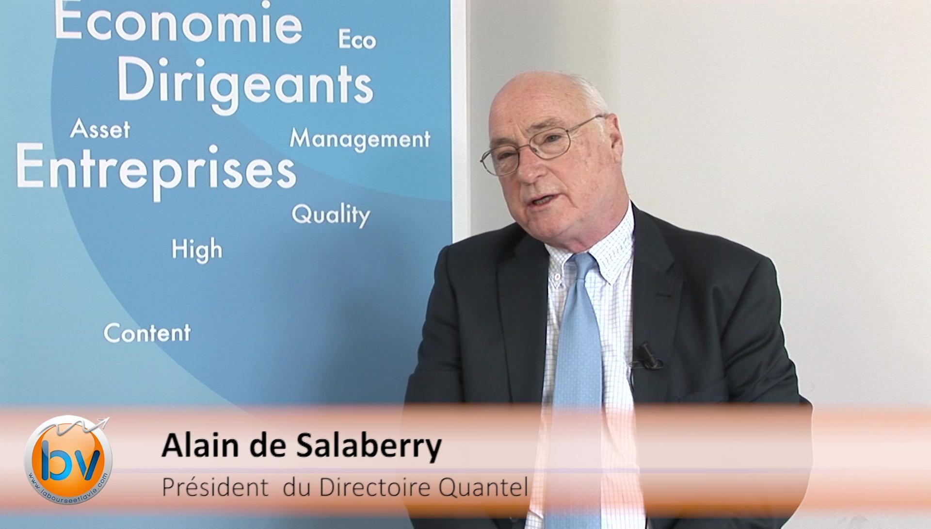 """Alain de Salaberry Président du Directoire Quantel : """"On espère continuer à progresser et la rentabilité doit suivre"""""""