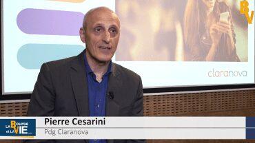 """Pierre Cesarini Pdg Claranova : """"On a une visibilité raisonnable sur 5 ans pour atteindre ces chiffres"""" : Résultats semestriels 2018-2019"""