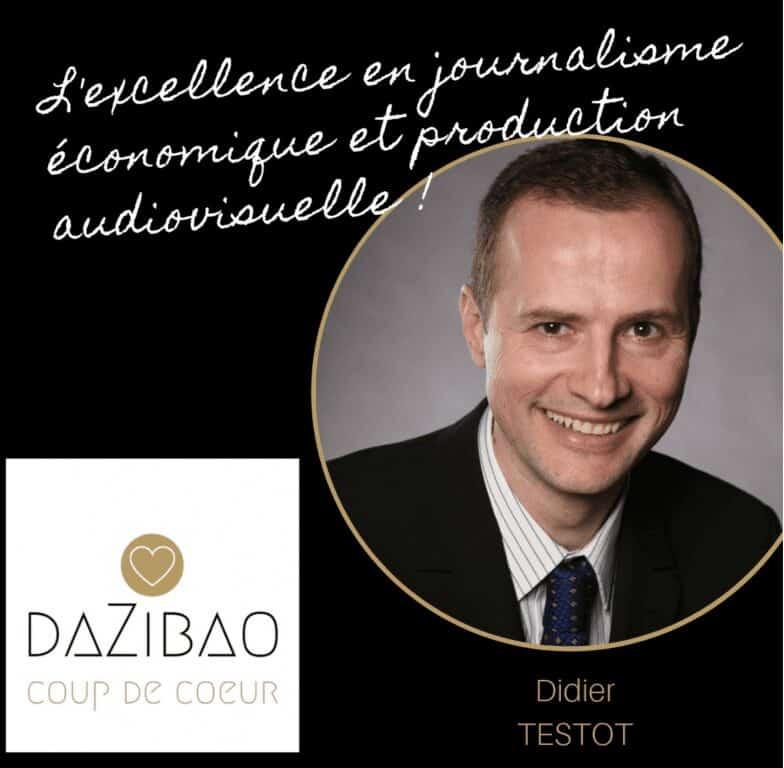 Découvrez le portrait #Dazibao de Didier TESTOT fondateur de LA BOURSE ET LA VIE TV