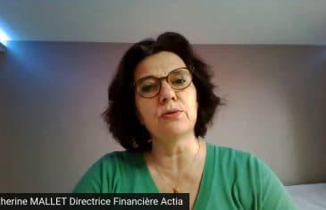 Catherine Mallet Directrice Financière Actia (Tous droits réservés 2021 www.labourseetlavie.com)