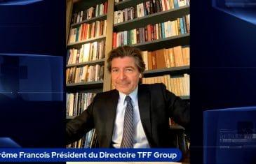 Jérôme François Président du Directoire TFF Group (Tous droits réservés 2021 www.labourseetlavie.com)