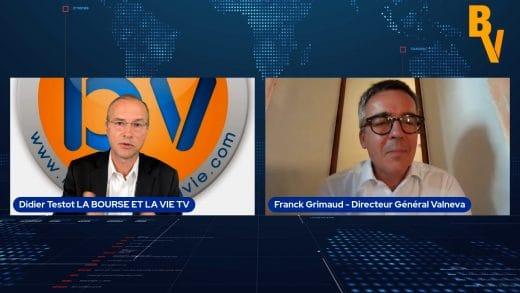 Franck Grimaud Directeur Général Valneva avec Didier Testot (Tous droits réservés 2021 www.labourseetlavie.com)