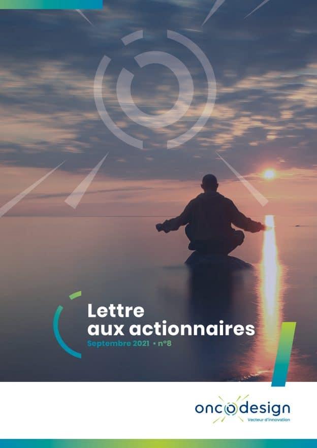 Lettre aux actionnaires septembre 2021 Oncodesign (vidéo)