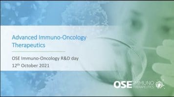 R&D Day Ose Immunotherapeutics 12th of October